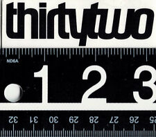 THIRTYTWO SNOWBOARD STICKER Black Thirtytwo Snowboarding Sticker 32 Decal