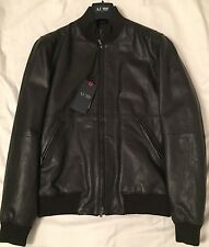 Armani  AJ -  Navy Leather  Jacket MC68  size 48 eur