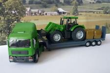 Boys Toy Teamsters GREEN TRANSPORTER LORRY & TRACTOR Birthday Present Gift Boxed