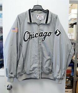 Majestic Chicago White Sox 4XL Grey Zip Up Jacket Baseball MLB C2595
