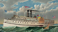 "perfect 48x24 oil painting handpainted on canvas"" Pilgrim Steamboat""NO3999"