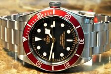 Tudor Black Bay M79230r-0012 with burgundy Red Bezel Box Papers Card never worn