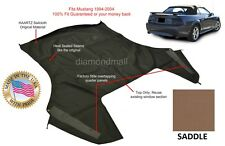 Ford Mustang Convertible Soft Top (Top Section Only) SADDLE Sailcloth 1994-2004