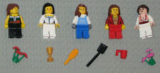 Lego MINIFIGURES 5 Women Girls Lady People Flowers Female Town Minifigs Toys