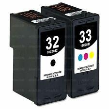 2pk #32/33 Ink for Lexmark X5470 X7170 X7350 X8350 Printer Cartridges