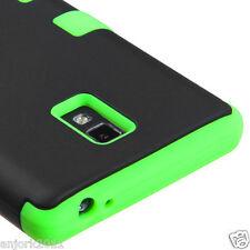 LG Optimus L9 P769 T-Mobile T Armor Hybrid Case Skin Cover Black Green