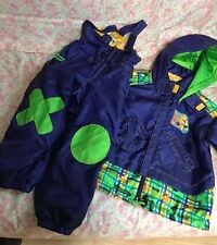 Hop-Do! Boys winter SKI Jacket and Bib overall set Size100(Japan) 3-4 years old