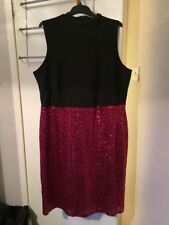 Red Sequin Dress Size 24
