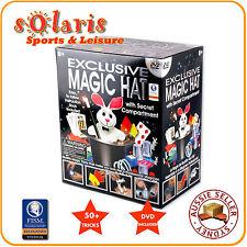 Hanky Panky's EXCLUSIVE MAGIC HAT Set Children Toy Magic Kit 50+ Tricks with DVD