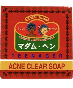 1 x MADAME HENG NATURAL SOAP BAR BLEMISH TEEN ACNE CLEAR 150 g.