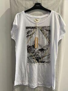 SALTROCK White Short Sleeve T Shirt Size UK 14