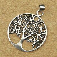 Keltischer Lebensbaum Anhänger Silber Gothic Schmuck - NEU