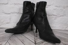 CARVELA BLACK LEATHER RRP £125 EU 38 UK 5 Stiletto High Heels Ankle Boots