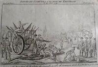 Gonesse Plaine de Grenelle en 1791 Paris Gravure Journal Révolution Française