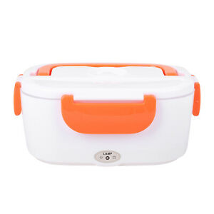 Thermoplastic Polymer White Orange Portable Electric Heating Lunch Box 50W