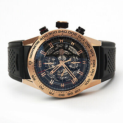 TAG Heuer Carrera Calibre Heuer 01 Wristwatch CAR2A5B.FT6044 Titanium Rose Gold