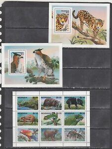 Nicaragua 1995 birds wildlife  wild cats bats etc klb+2s/s MNH