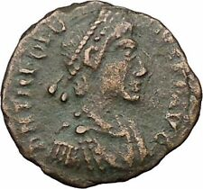THEODOSIUS I the Great  Ancient Roman Coin Military Camp Gate  i31526