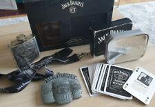 JACK DANIELS Gift Set Bundle Christmas Wallet Glass Cards belt buckle flask key
