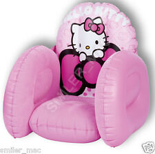 Worlds Apart Hello Kitty Flocked Easy Inflatable Comfortable Chair for Kids