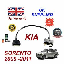 For KIA Sorento iPhone 3 3gs 4 4S iPod USB & 3.5mm Aux Audio Cable MY 2009-11
