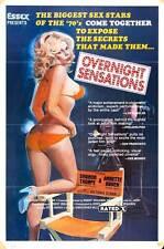 OVERNIGHT SENSATIONS Movie POSTER 27x40 B Joe Civera Annette Haven Sharon Thorpe