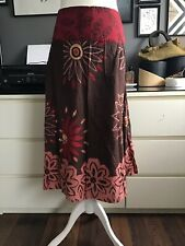 Essence 18 Skirt Evans Earty Arty Cotton Brown Red