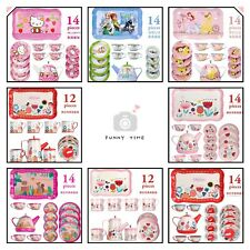 Girl Kid Tea Pot Toy Set Pretend Play Hellokitty Princess Snow White Dishes Cup