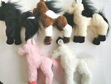 Süßes kuscheliges Pferd Pony 23cm Plüsch Stoff Kuscheltier 5 Varianten