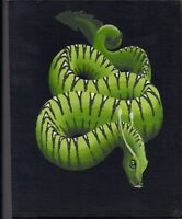 Original Painting - Acrylic Green Sea Serpent Glow in the Dark Signed by artist