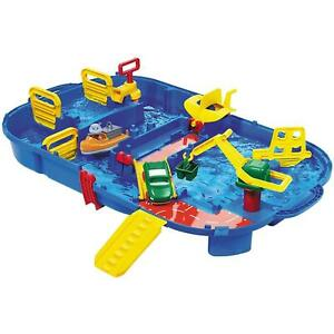 Aquaplay Lock Box Water Table Toy 27 Accessories & Pump Outdoor Garden 3 Years +