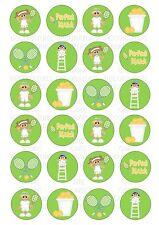 24 Tennis Wafer / Rice Paper Cupcake Topper Edble Fairy Cake Bun Toppers