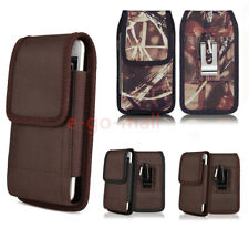 Vertical Nylon Belt Clip Case Pouch Holster Cover For Samsung iPhone LG Sony