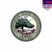 California State University East Bay 4 pack 4x4 Inch Sticker Decal