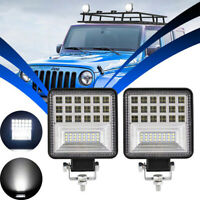 2X LED Barra de luz de trabajo Flood Spot Beam Offroad 4WD SUV Driving Fog Lamp