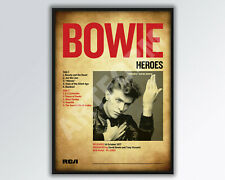 More details for david bowie heroes album poster/print