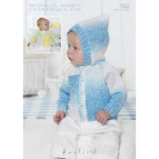 Sirdar Baby Knitting Pattern - 1322 - Jackets - Bonus Changes DK