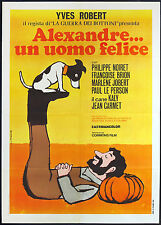 CINEMA-manifesto ALEXANDRE...UN UOMO FELICE noiret, brion, jobert, kaly, ROBERT