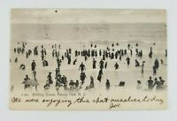 Postcard Bathing Scene Asbury Park New Jersey Waves Atlantic Ocean 1906