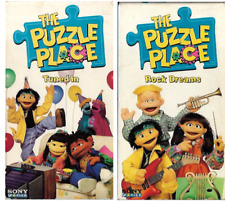 The Puzzle Place Rock Dreams & Tuned In Lot of 2 VHS Video Tapes 1995