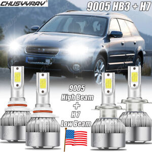 For Subaru Outback Legacy 2005-2014 White Hi/Lo Beam LED Headlight Bulbs 6000K