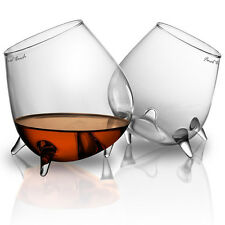 Set of 2 Relax Cognac Glasses Unique Whiskey / Brandy Glass Gift Set - Bar Gift