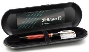 Pelikan Souverän M400 Füller Schwarz Rot fountain pen black red 14 Kt nib Fine F