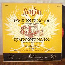 Haydn Symphony no. 100 Georg Solti LP London ffrr 1950's deep groove VG+