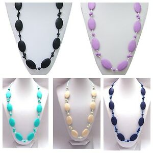 New Lily Bear Silicone Baby Teething Beaded Necklace Jewellery For Mums.