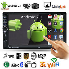"Quad Core Android 7.1 3G WiFi 7"" 2DIN GPS Autoradio Bluetooth Stereo MP5 MP3 FM"