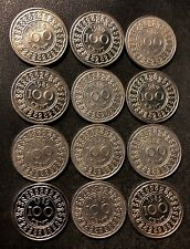 OLD Suriname Coin Lot - 100 Cents - 12 Very Scarce High Quality Coins - Lot #J18