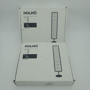 IKEA HOLMO Floor Lamp Light Rice Paper Shade Home Room Lighting Set of 2