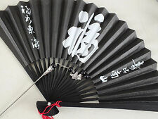 JAPANESE GEISHA HAIR PIN STICK BLACK LUCK PAPER HAND FAN CHINESE BIRTHDAY PARTY
