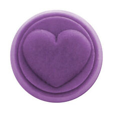 Small Round Heart Soap Mold. Melt & Pour, Cold Process w/Instructions